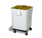 Continental Commercial 9332 32-Gallon Mobile Ingredient Bin w/ Dolly, Snap-Lock Lid, White