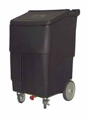 "Continental Commercial 9720BK 200-lb Ice Caddy - Lift Up, Slant Top, 44"" H"