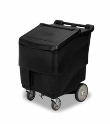 "Continental Commercial 9725BK 125-lb Ice Caddy - Lift Up, Slant Top, 33.5"" H"