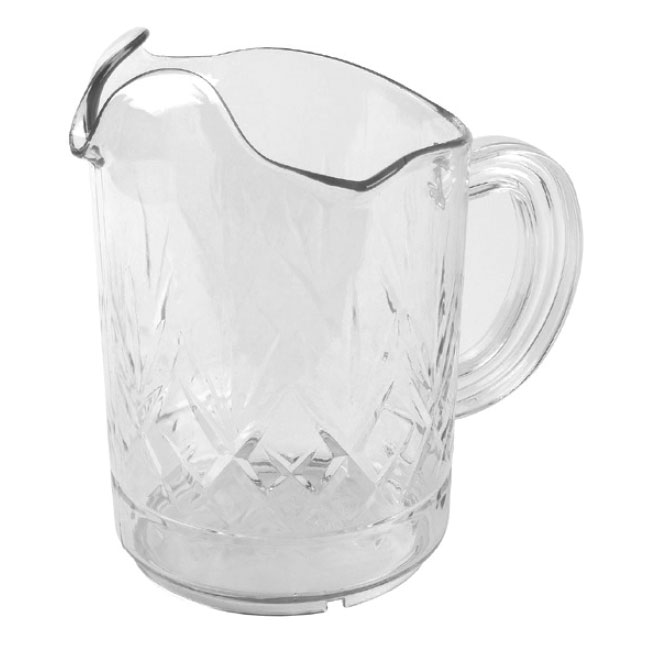 Continental 9762CL 60-oz Tri-Pour Pitcher, Poly-Clear