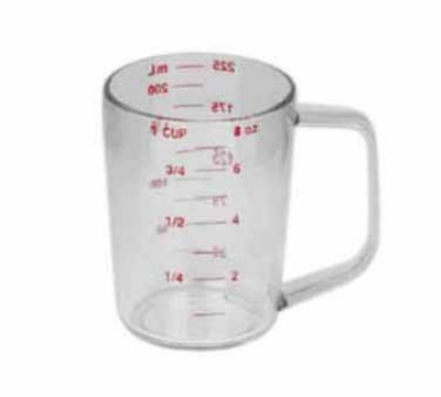 Continental 9808 8-oz Plastic Measuring Cup, Poly-Clear