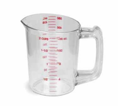 Continental 9816 16-oz Plastic Measuring Cup, Poly-Clear