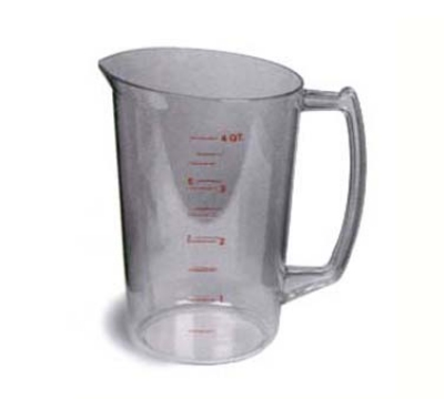 Continental Commercial 9828 128-oz Plastic Measuring Cup, Poly-Clear