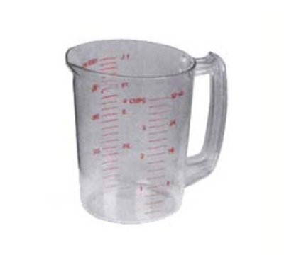 Continental Commercial 9832 32-oz Plastic Measuring Cup, Poly-Clear