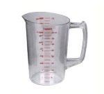 Continental 9864 64-oz Plastic Measuring Cup, Poly-Clear