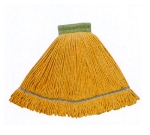 Continental A02802 Wet Mop Head, Launderable, 5-in, Medium, Green, Cotton Blend