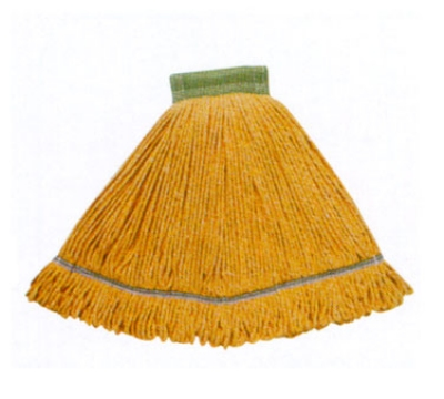 Continental A02801 Wet Mop Head, Launderable, 5-in, Small, Green, Cotton Blend