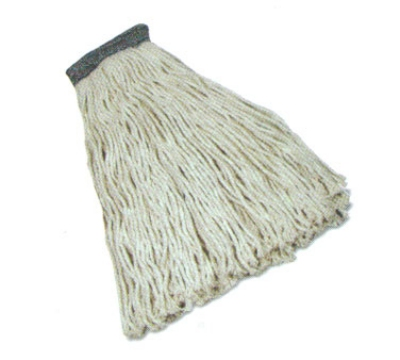 Continental A405116 Industrial Wet Mop Head, 16-Oz, 1.25-in Headband, Natural, Cotton