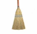 Continental E503000 Lobby Corn Broom, 27 x .87-in, Wood