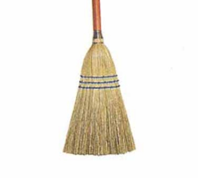 Continental Commercial E503000 Lobby Corn Broom, 27 x .87-in, Wood