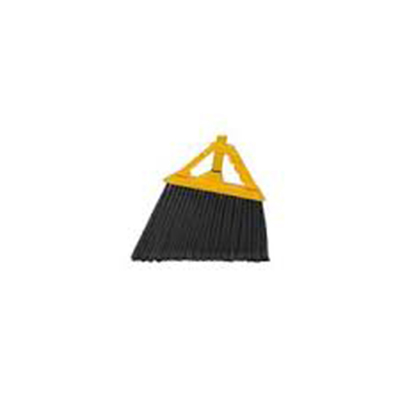 "Continental Commercial E515012 Angled Broom - 6"" Bristle Trim & 48"" Handle, Yellow"