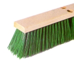 Continental Commercial F101124 24-in Polypropylene Garage Sweep w/ Foam Block,3/5-in Trim Green