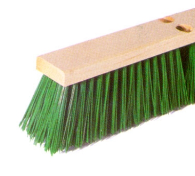 Continental F101124 24-in Polypropylene Garage Sweep w/ Foam Block,3/5-in Trim Green