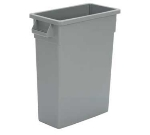 Continental Commercial H8316 BN 16-Gal Wall Hugger Trash Can w/ Handles, Brown