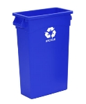 Continental Commercial H8322-1 23-Gallon Recycle Waste Container w/ Handles, Bl