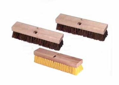 Continental I002012 12-in Palmyra Deck Brush w/ Wood Block, 2-in Trim