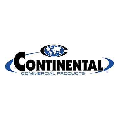 Continental Commercial 4000-1 Square Recycling Container w/ 48-Gallon Capacity, Blue