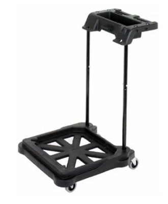 Continental Commercial MFT-5BK ErgoWorx Touchless MicroTek Trolley For SYS-5 System, Black