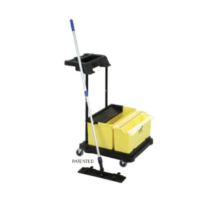Continental Commercial SYSK1 Starter Kit: Trolley, Bucket, Mop Frame & Handle, 10-Mops, 12-Cloths, 2-Bags