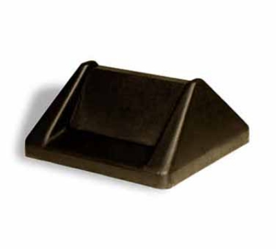 Continental T1600 BN Swing Lid For #25 & #32 Trash Cans, Brown