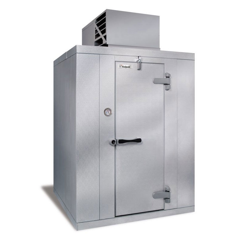 Kolpak QS7-1010-FT R Top Mount Walk In Freezer w/ Dial Thermometer & Hinged Right, 90x116x116""