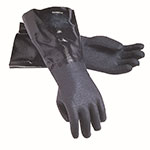 "San Jamar 1217EL Lined Neoprene Dishwashing Glove, 17"", Rough Grip, One Size"