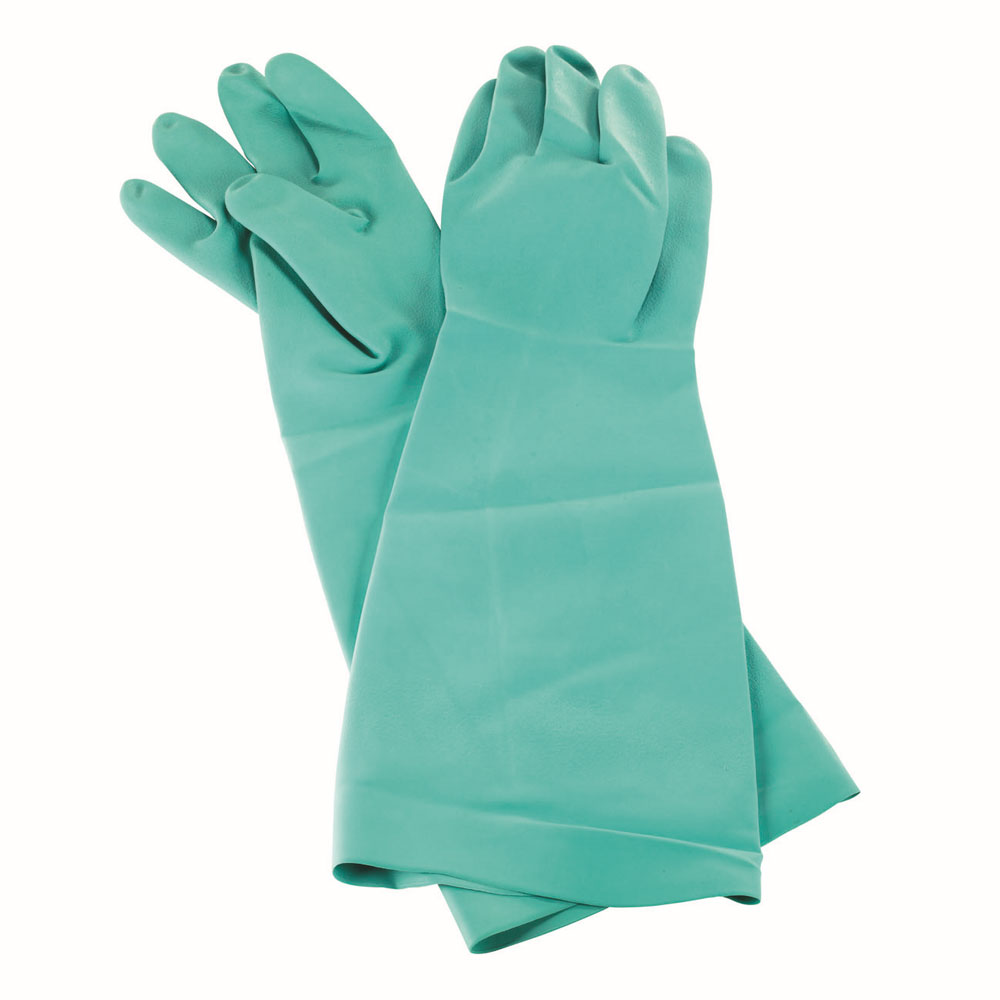 San Jamar 19NU-M Nitrile Dishwashing Glove, Medium, Heat Resistant, Green