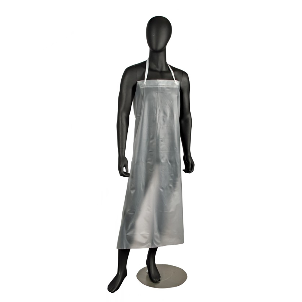 "San Jamar 614DVA Vinyl Dishwashing Apron, Heavy Duty Ties, 12 mil., 36 x 45"", Clear"