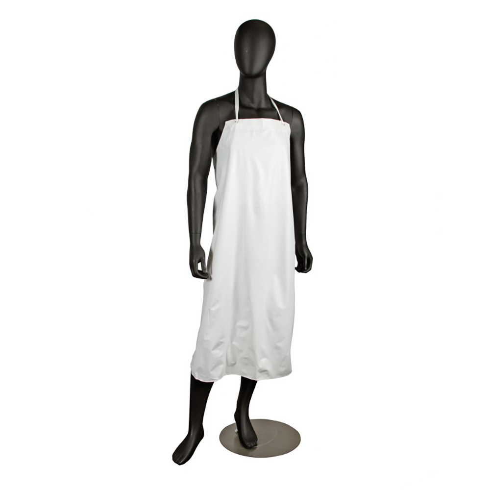 "San Jamar 614DVA-WH Vinyl Dishwashing Apron, Heavy Duty Ties, 6 mil, 36 x 45"", White"