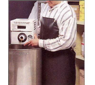 "San Jamar 615NBA-BK Neoprene Bib Apron, 36 x 43"", Heat / Fire / Cut Resistant, Black"