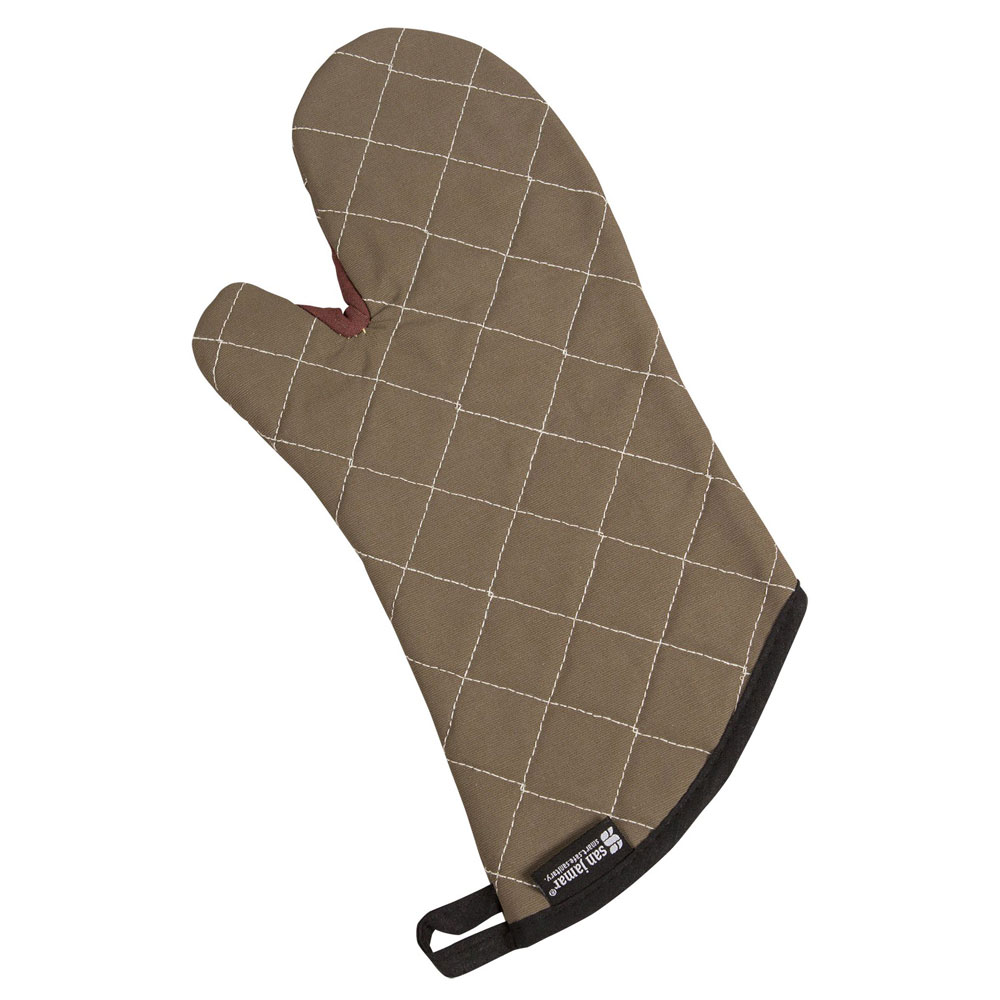 San Jamar 800FG17 Oven Mitt, 17-in L, Elbow Length, Protects to 425F, Fire Retardant