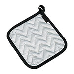 "San Jamar 802SPH Pot Holder, 7 x 7"", Protects to 250 degrees w/Intermittent Use, Silver"