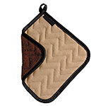 "San Jamar 802TF Pot Holder, 8 x 8"", Fire Retardant & Quilted Terry Cloth"
