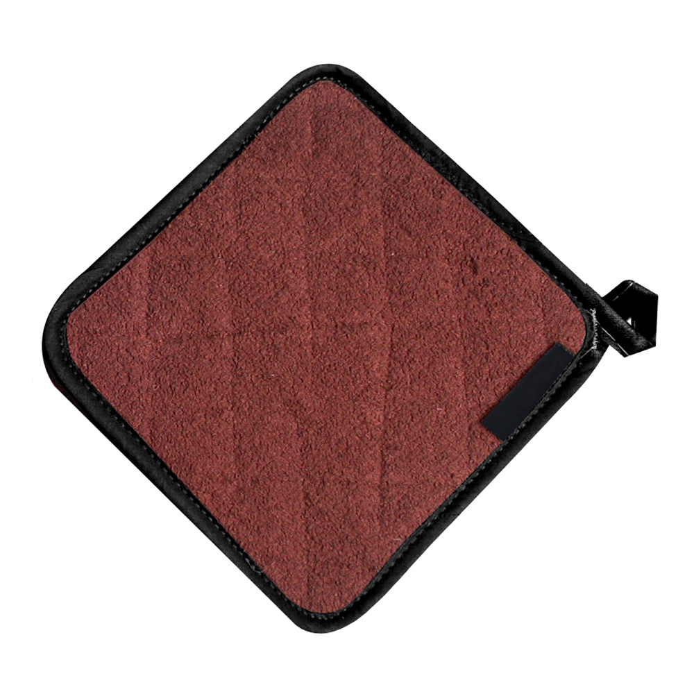"San Jamar 802TPH Heavy Duty Terry Cloth Pot Holder, 8 x 8"", Brown"