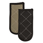 "San Jamar 804BG Handle Holder, 3.5 x 6.5"", Quilted Fire Retardant, Tan"