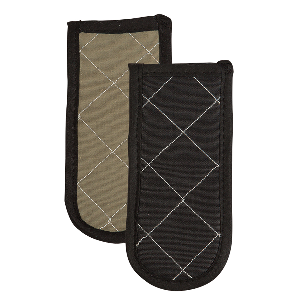 "San Jamar 804BG-BK Handle Holder, 3.5 x 6.5"", Quilted Fire Retardant, Black"