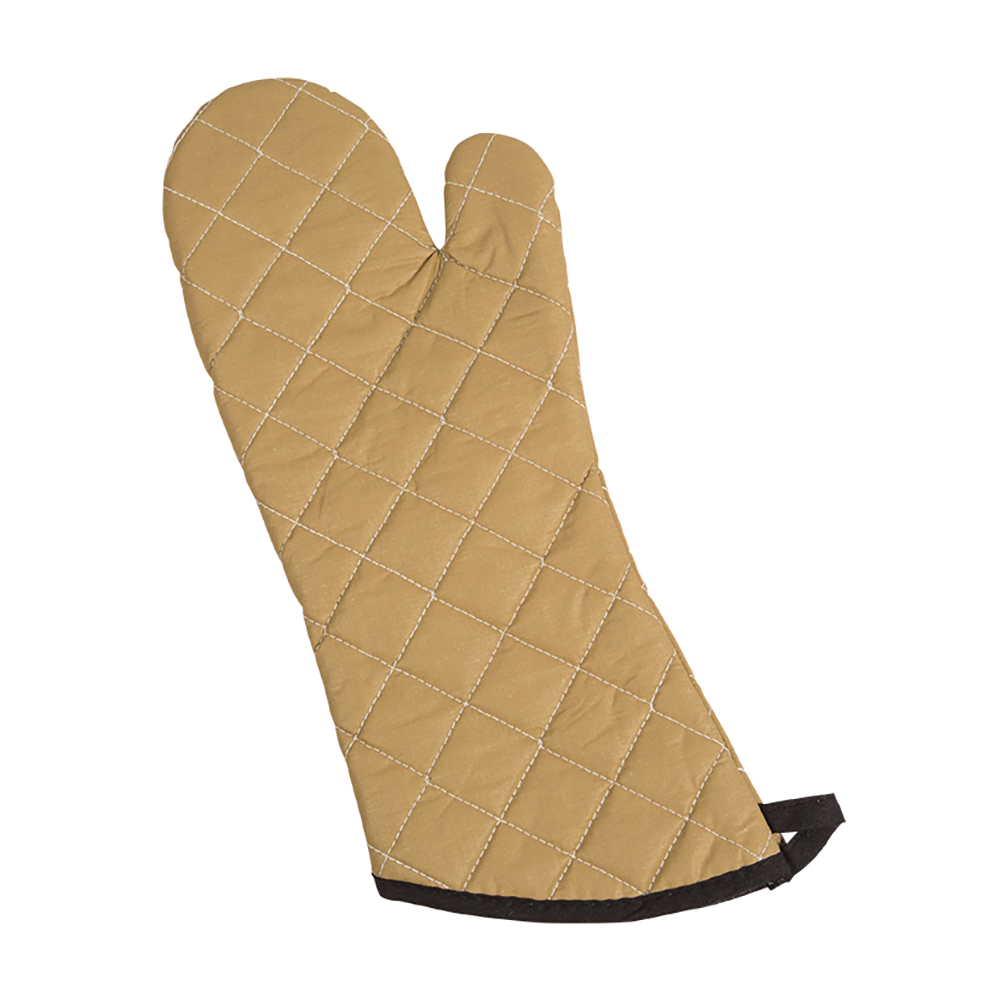 "San Jamar 811TG17 Non-Stick Coated Oven Freezer Mitt, 17"", One Size, Tan"