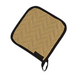 "San Jamar 812TPH Non-Stick Coated Pot Holder, 7 x 7"", Tan"