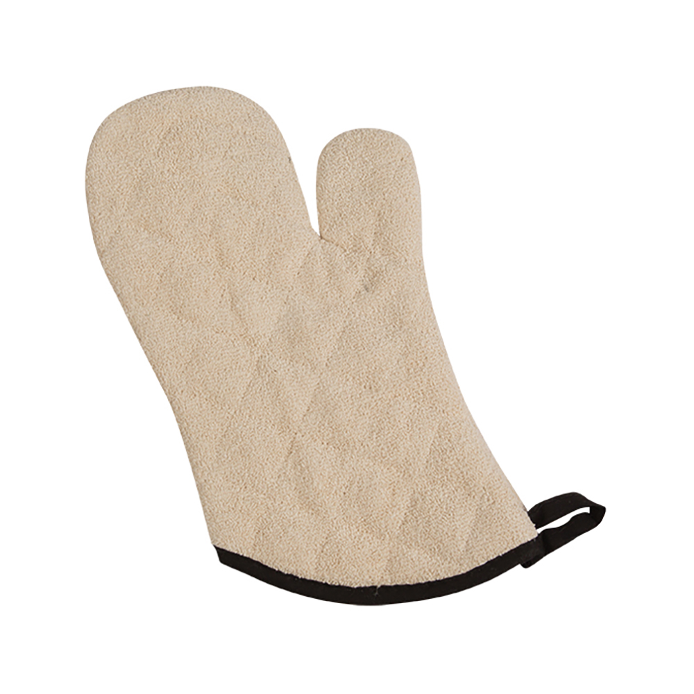 "San Jamar 817TM Terry Oven Mitt, 17"", Heavy Duty Institutional Grade, Tan"