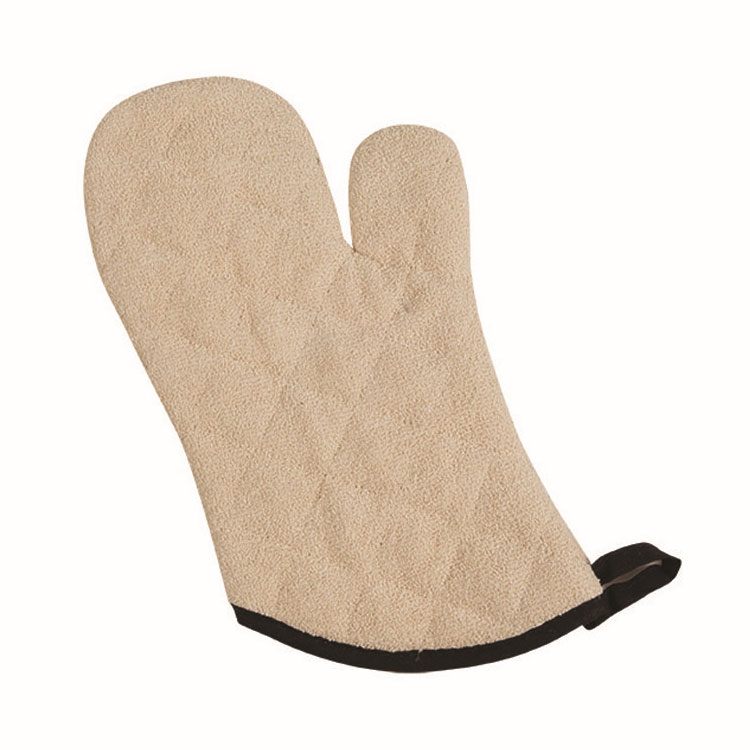 "San Jamar 817TM-SB Terry Oven Mitt, 17"", Heavy Duty, Steam Barrier, Tan"