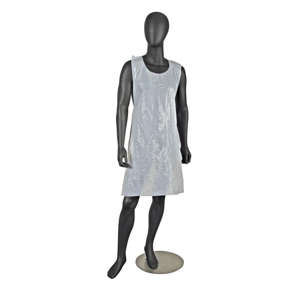 """San Jamar 8706 Disposable Bib Apron, Lightweight, 24 x 46"""", Large, White"""