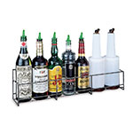 San Jamar B5624SG Gourmet Speed Rack, Holds 6 Quart/Liter Bottles, Single, Wire