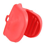 San Jamar BG100 BreadGuard Mitt - Ribbed Grips, Red