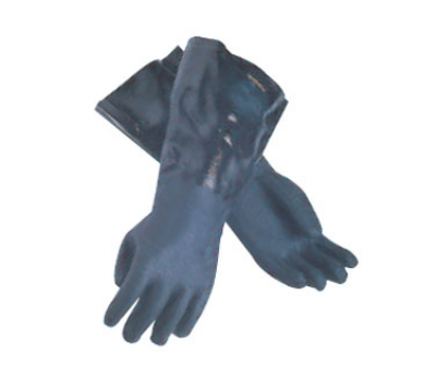 San Jamar 1214 Lined Neoprene Dishwashing Glove, 14-in, Rough Grip, One Size