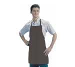 San Jamar 604VBA-BR Vinyl Apron, 25 x 28-in, Heavyweight, Waterproof, Fire Retardant, Brown