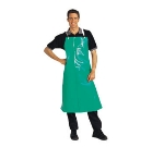 San Jamar 614DVA20-GN Vinyl Dishwashing Apron, Heavy Duty Ties, 20 mil, 36 x 45-in, Green