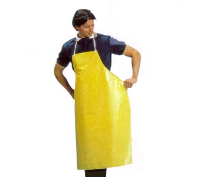 San Jamar 615NBA-Y Neoprene Bib Apron, 36 x 43-in, Heat / Fire / Cut Resistant, Yellow