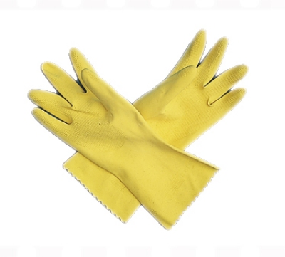 San Jamar 620-L Latex Dishwashing Glove, Large, Flock Lining, Embossed Grip, Yellow