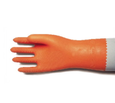 San Jamar 720-XL Neoprene Latex Lined Dishwashing Glove, X-Large, Heat Resistant, Orange