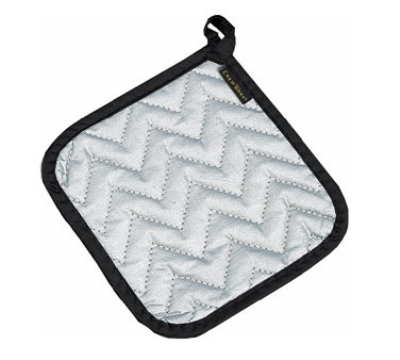 San Jamar 802SPH Pot Holder, 7 x 7-in, Protects to 250 degrees w/Intermittent Use, Silver
